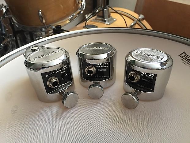 Roland (1) RT-5S & (2) RT-3T Acoustic Drum Trigger Set