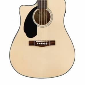 Fender CD-60SCE LH Solid Spruce/Mahogany Cutaway Dreadnought w/ Electronics (Left-Handed) Natural