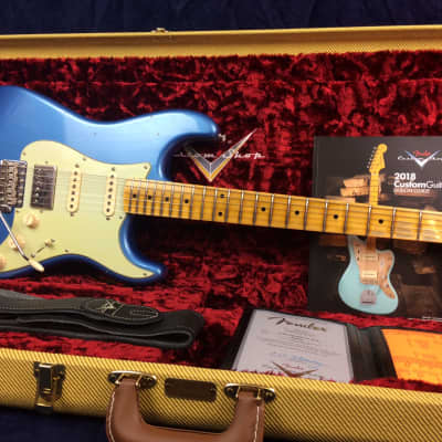 Fender Custom Shop Journeyman Relic '57 Stratocaster HSS in Lake Placid Blue w/Maple FB for sale