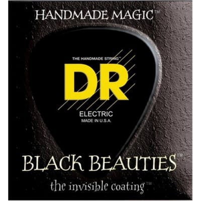 DR BKB-45 Black Beauties Coated Steel Medium Bass Strings, .045 -.105