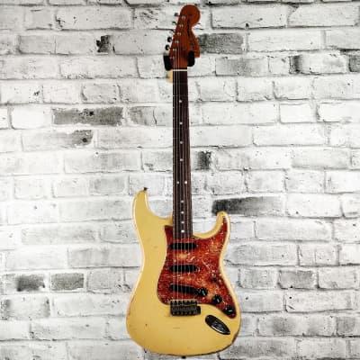 Fender Custom Shop Master Built – Todd Krause – 68 Stratocaster Relic – Aged Desert Sand for sale