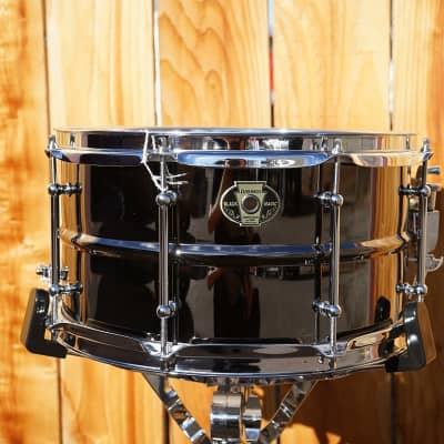 "Ludwig LW0713 Black Magic 7x13"" Brass Snare Drum"