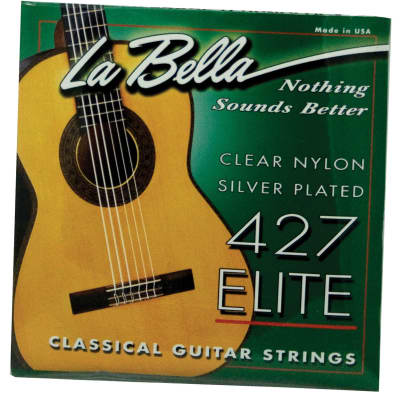 LaBella 427 Elite Clear Nylon Silver Plated for sale