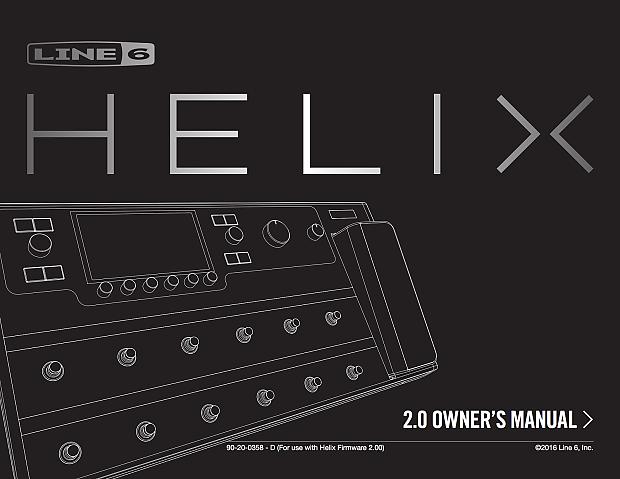Line 6 Helix Manuals