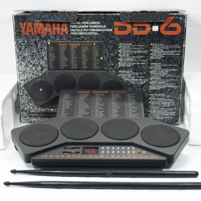 Portable Yamaha DD-6 Electronic Digital Percussion 4 Pad Drum Kit Machine With Box & power supply