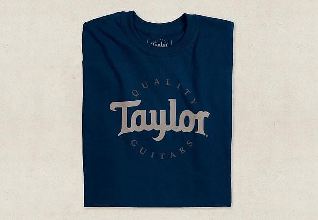 taylor guitars men s two color logo t shirt navy medium reverb. Black Bedroom Furniture Sets. Home Design Ideas