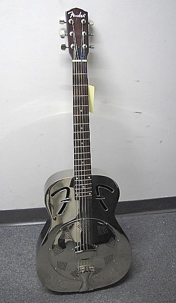 Auto Parts Shop >> Fender FR-48 Steel-Body Resonator Guitar w/Gig Bag | Reverb