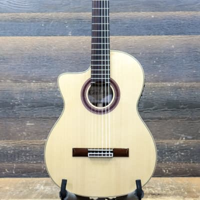 Cordoba GK Studio Negra Lefty Solid Top Cutaway Electro-Classical Guitar w/Bag