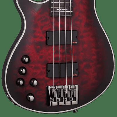 Schecter Hellraiser Extreme-4 LH Crimson Red Burst Satin