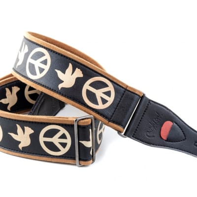 Right On Straps Peace & Doves - Neil Young Strap