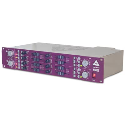 "New Trident Audio A-Range Dual Channel Strip with Preamp and 4-Band Equalizer 19"" Studio Hardware"