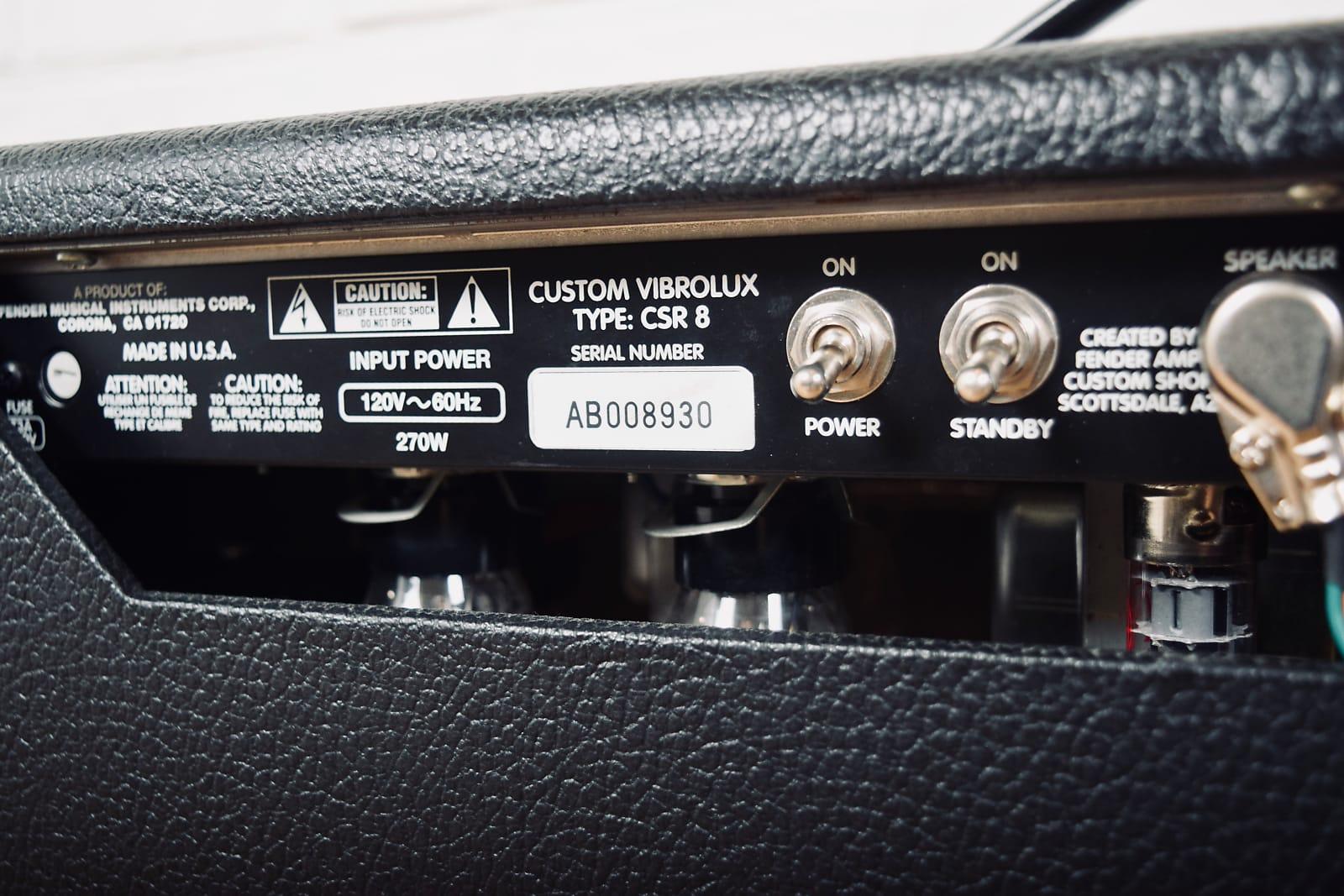 fender vibrolux reverb serial numbers