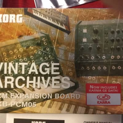 Korg EXB PCM05 Vintage Collection for Triton and Karma Complete in Box Expansion ROM All 8 Floppies!
