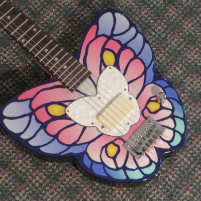 Daisy Rock Debutante Butterfly Short-Scale Guitar! for sale