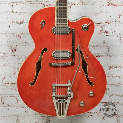 2017 Duesenberg USA Gran Royale Electric Guitar Vintage Orange x0092 (USED)