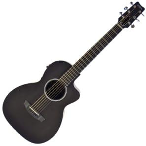 RainSong P12S Graphite Top Parlor Acoustic Electric-Guitar Black Satin