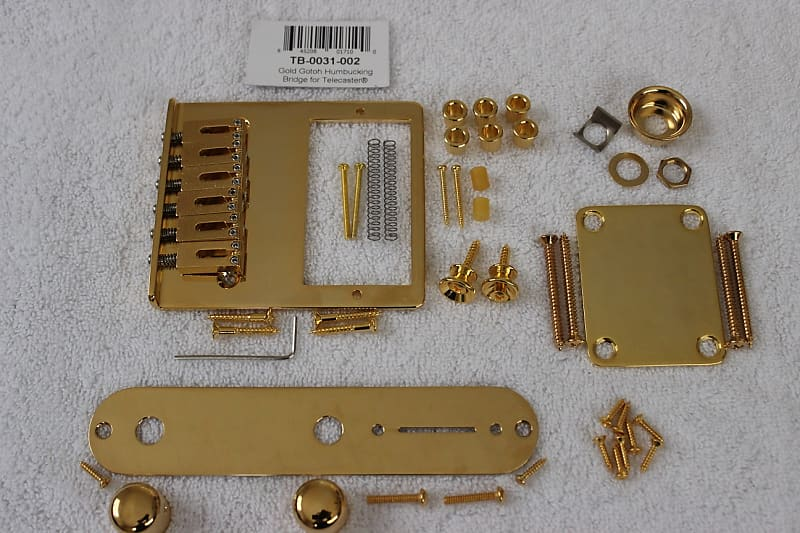 Gotoh 6 Saddle Brass Humbucking Bridge for Tele GOLD NEW