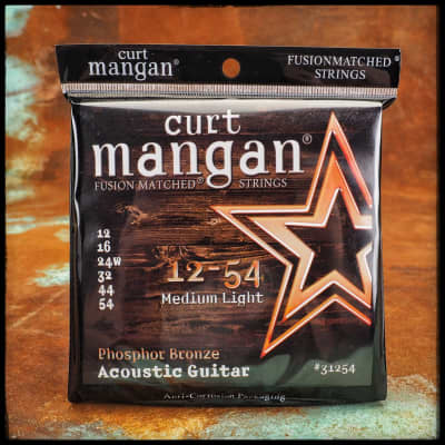 Curt Mangan Phosphor Bronze Acoustic Guitar 12-54
