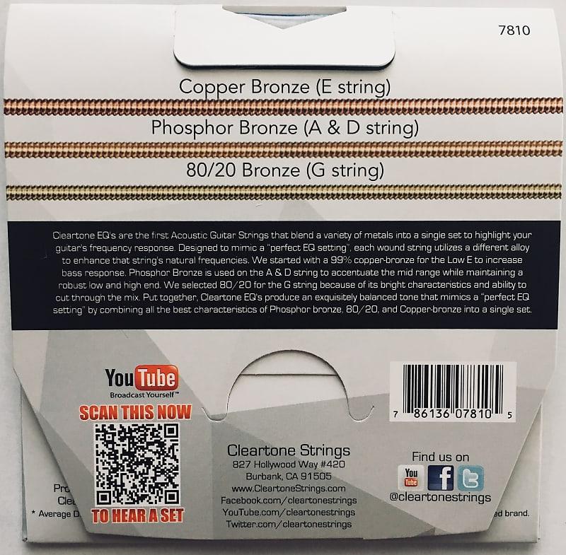 cleartone 7810 eq hybrid metal acoustic guitar strings extra reverb. Black Bedroom Furniture Sets. Home Design Ideas