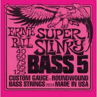 Ernie Ball Super Slinky Bass 5 String Set, .040-.125
