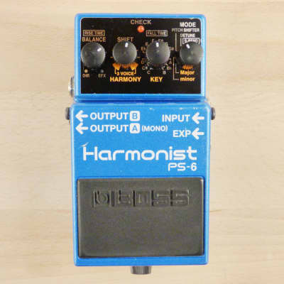 Boss PS-6 Harmonist - Harmonizer - Pitch Shifter - Detuner - Guitar Effects Pedal - Very Good Cond.