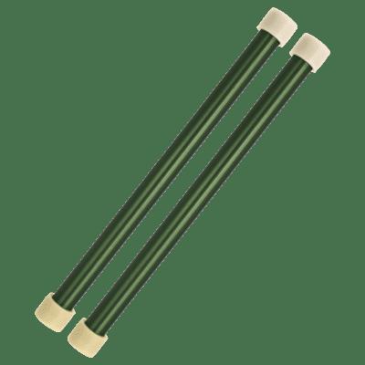Panyard Jumbie Jam Steel Drum Mallets- Aluminum - Green (pair) <W4254>