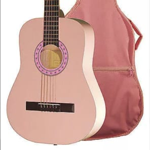 Indiana FILLY Standard Size Steel String 36-Inch  Acoustic w/ Gig Bag - Pink for sale