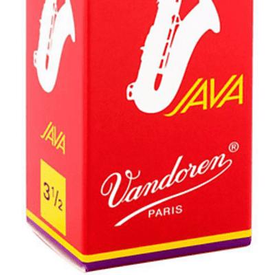 Vandoren Java Red Tenor Saxophone Reeds Strength 3.5 (Box of 5)