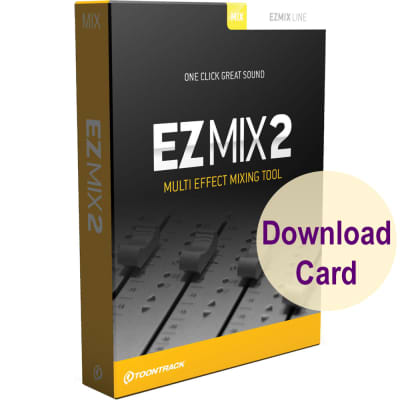 Toontrack EZMix 2- Multi-Effect Mixing Plug-In Software for Windows and Mac (Download Card)