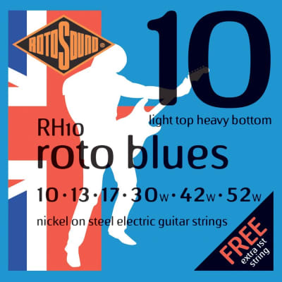 Rotosound RH10 Roto Blues Electric Guitar Strings - Light/Heavy (10-52)