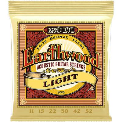 Ernie Ball Earthwood Light 80/20 Bronze Acoustic Guitar Strings 11 - 52