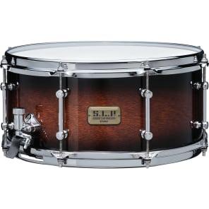 """Tama LKP1465-KPB S.L.P. Series 6.5x14"""" Dynamic Kapur Snare Drum"""