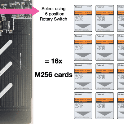 M256E 16x multi-bank RAM card No battery Needed. M256D 16-in-1 for Roland JV 1080 2080 World Ship