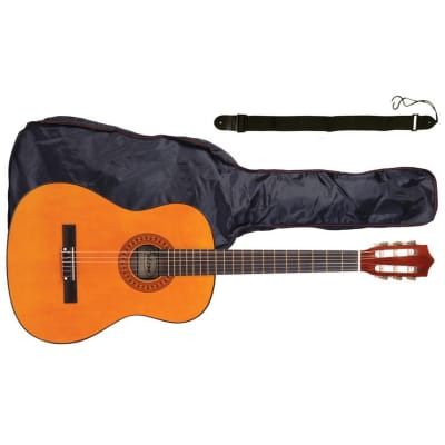 Falcon FL44OFT 4/4 Size Classical Guitar Package (Natural) for sale