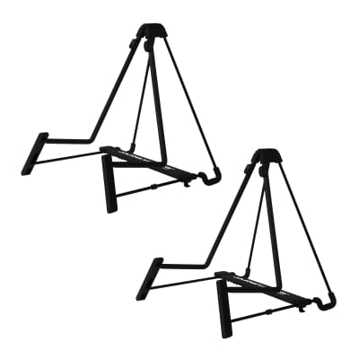 Two for One Guitar Stands! JamStands JS-AG75 Adjustable A-Frame Guitar Stand, QTY (2)