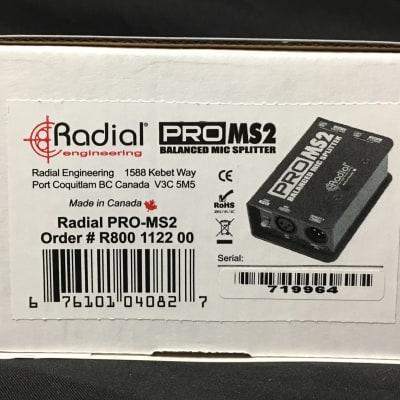 Radial Engineering Pro MS2 / Passive Microphone Mic Splitter