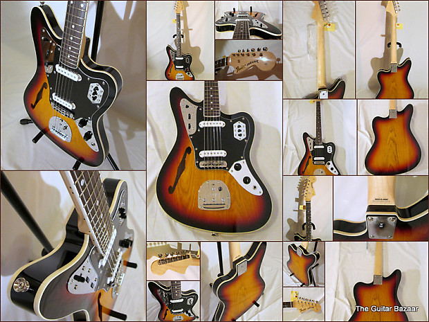 fender fsr special edition jaguar thinline 3 color sunburst | reverb