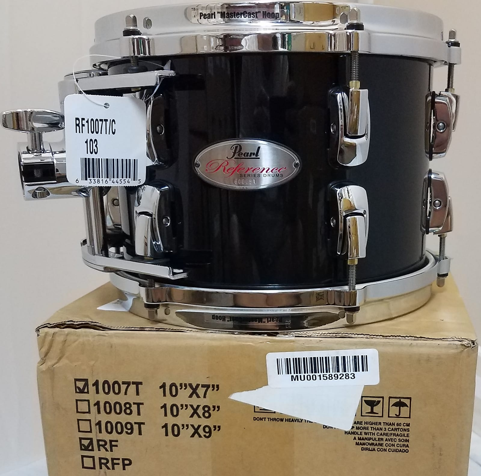 Pearl Reference 10x7 Piano Black Tom Drum W/Optimount - NEW Authorized  Dealer - Worldwide Ship!