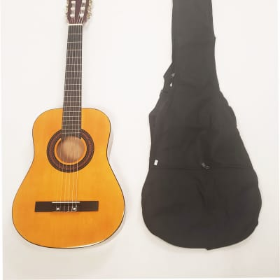 BEGINNER Left Handed CLASSICAL ACOUSTIC GUITAR 1/2 (CHILD) SIZE (34 INCH) W/CARRY BAG for sale