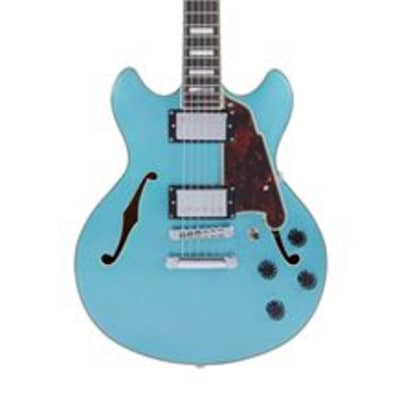 D'Angelico Premier Mini DC Semi-Hollowbody with Gig Bag Ocean Turquoise