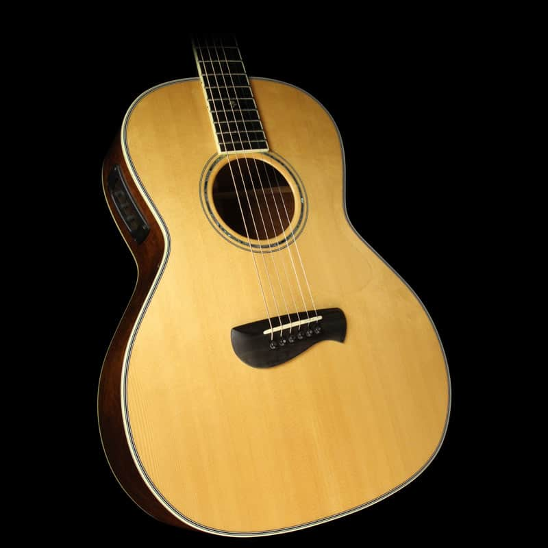 used tacoma pm28 parlor acoustic electric guitar natural reverb. Black Bedroom Furniture Sets. Home Design Ideas