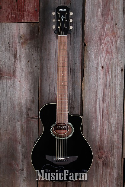 Yamaha APXT2 BL 3/4 Acoustic Electric Guitar Travel Size Black with Gig Bag