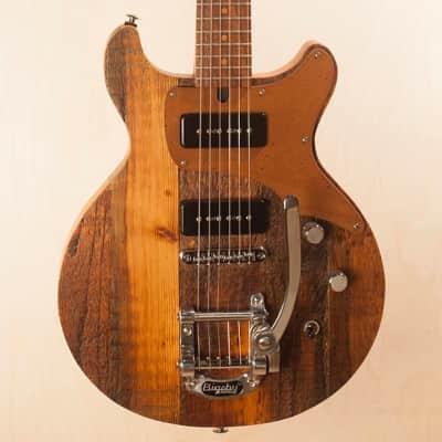 Strack Guitars Double Cutaway  2018 Rustic Reclaimed Handmade Custom Les Paul Jr. for sale