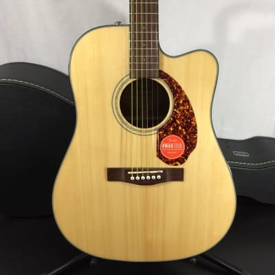 Fender CD-140SCE Dreadnought Acoustic Guitar, Walnut Fingerboard, Natural w/ Case - Return