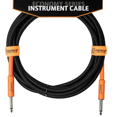 Ortega Guitars 10' Guitar Instrument Braided Cable 1/4