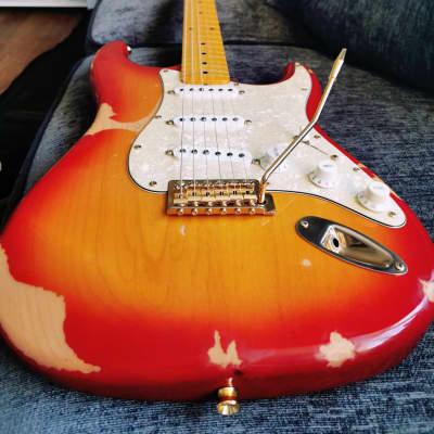 J. Davey Custom Strat With Vintage Kinman Hank Marvin Pickups for sale