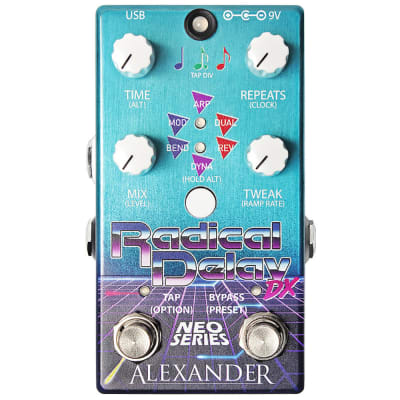 Alexander Radical Delay DX Pedal, Neo Series, Guitar Delay Effect Pedal