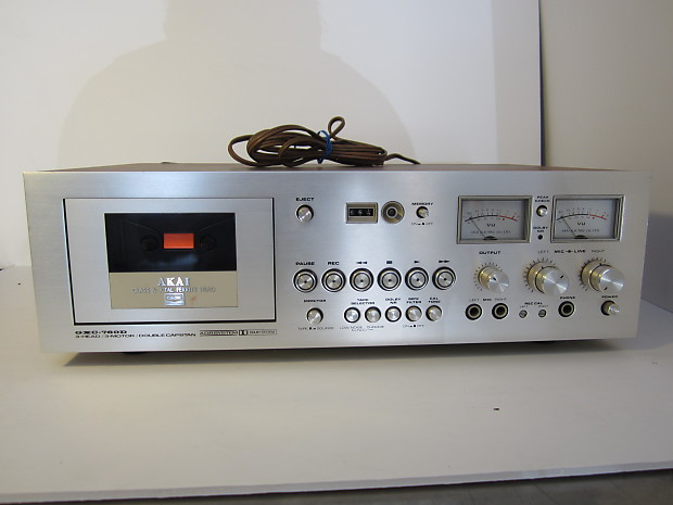 Vintage Tape player Akai GXC-760D 3head-3 motor