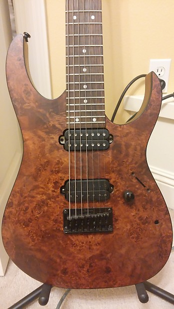Mint Ibanez RG7421 PB 7 String Guitar, Seymour Duncan | Reverb