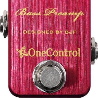 One Control Crimson Red Bass Preamp Effect Pedal for sale